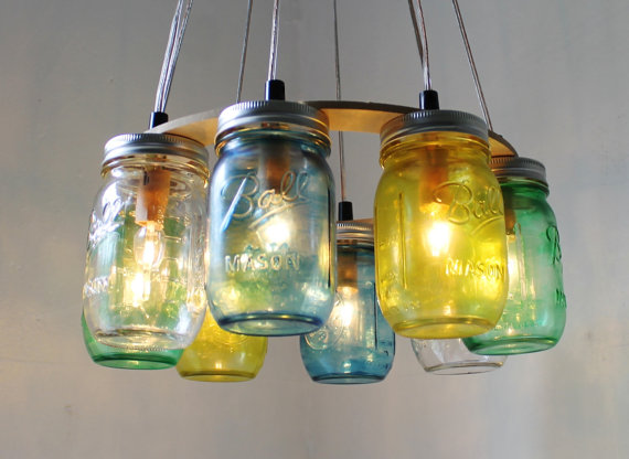 diy mason jar lamp photo - 1