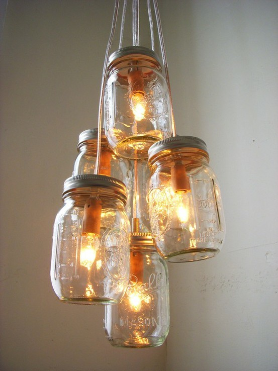 diy mason jar lamp photo - 6