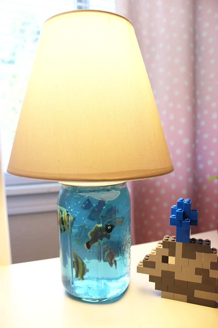 diy mason jar lamp photo - 7
