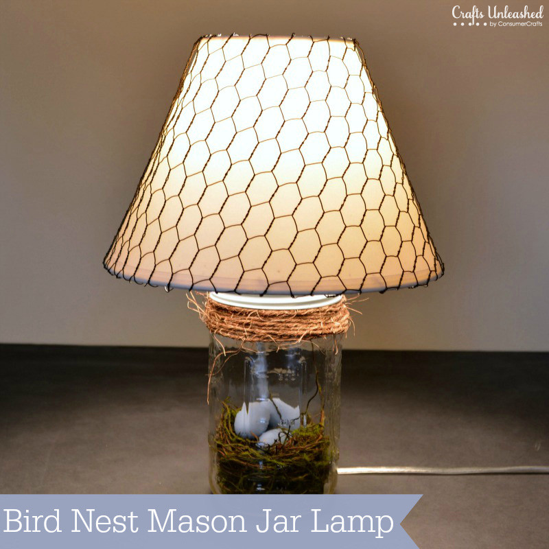 diy mason jar lamp photo - 9