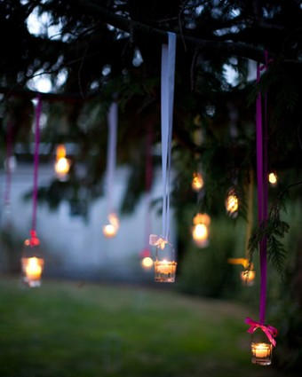 diy outdoor party lighting photo - 2