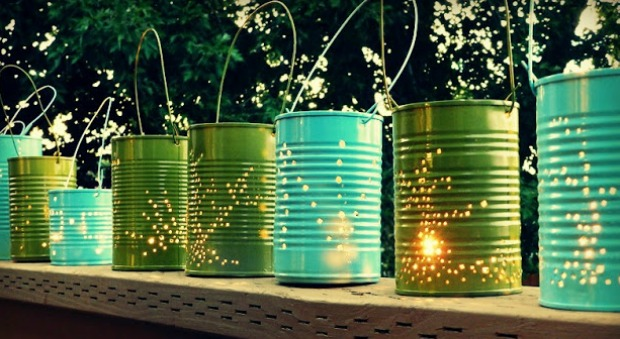 diy outdoor party lighting photo - 3