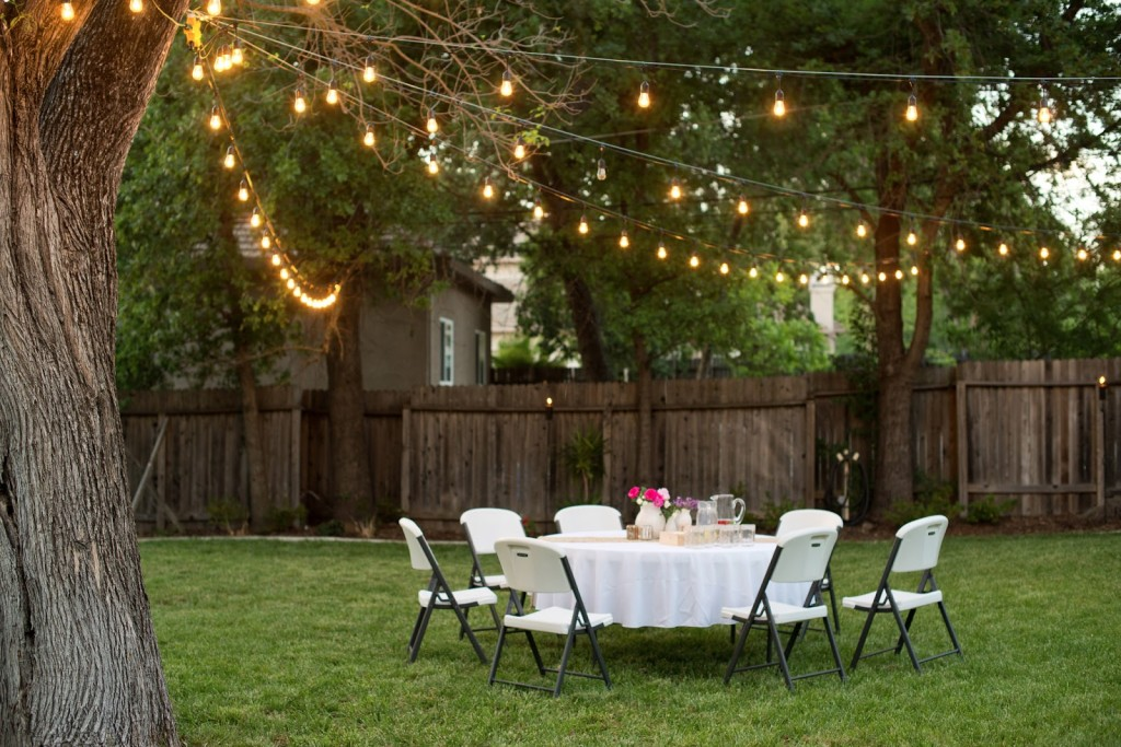 diy outdoor party lighting photo - 5