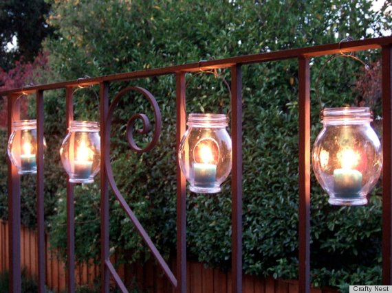 diy outdoor party lighting photo - 6
