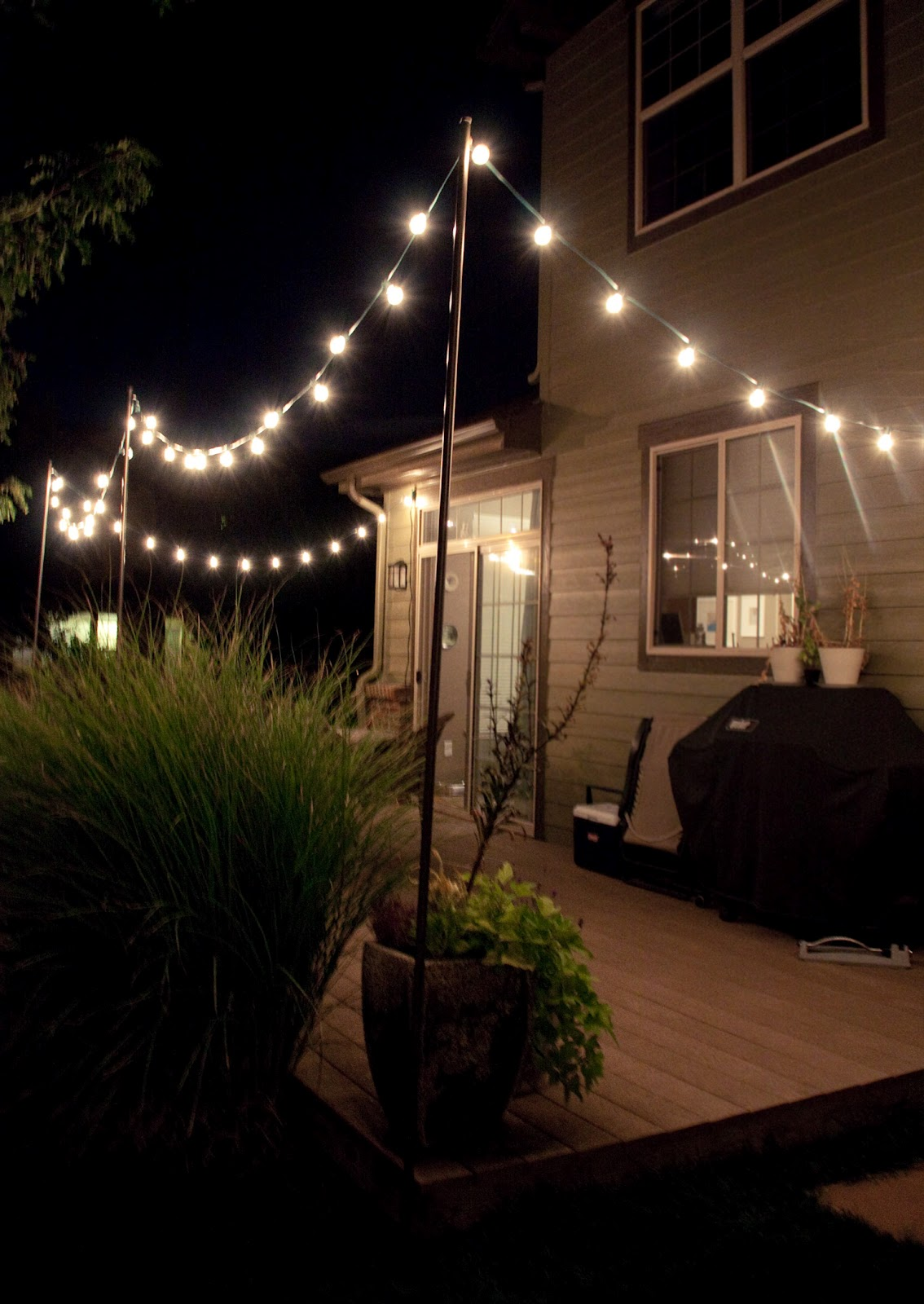 diy outdoor party lighting photo - 8