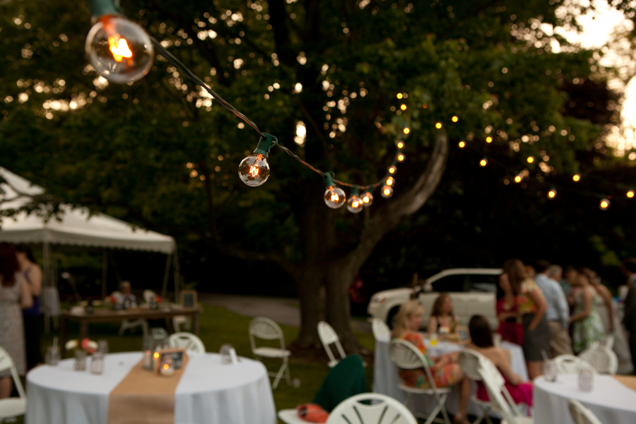 diy outdoor wedding lighting photo - 1