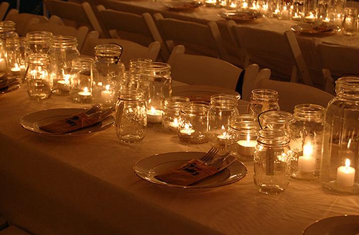 diy outdoor wedding lighting photo - 5