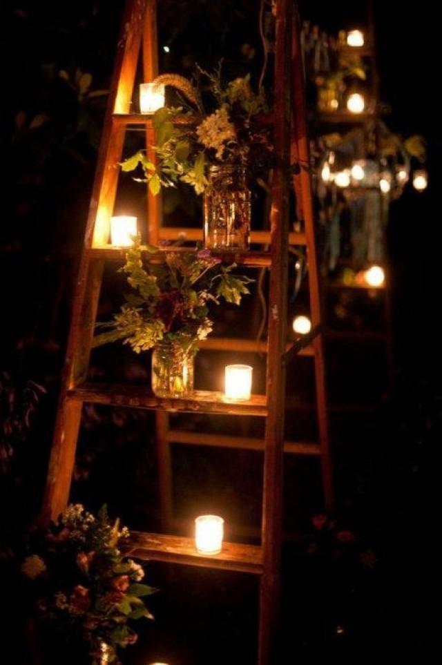 diy outdoor wedding lighting photo - 9