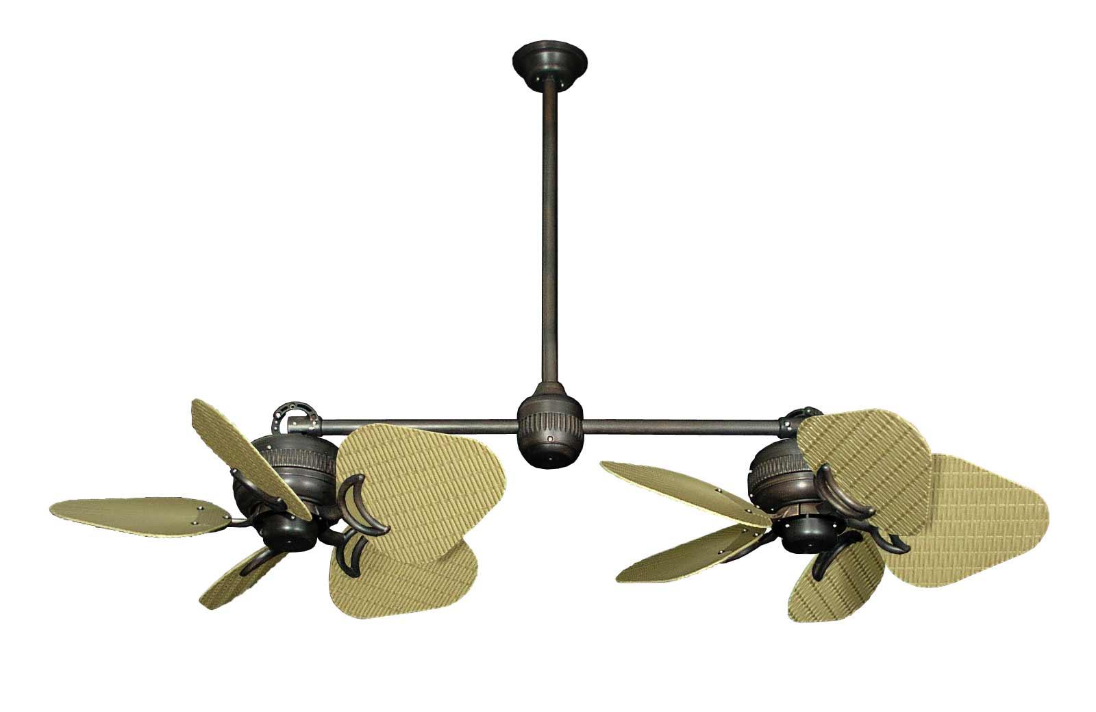 double blade ceiling fan photo - 5