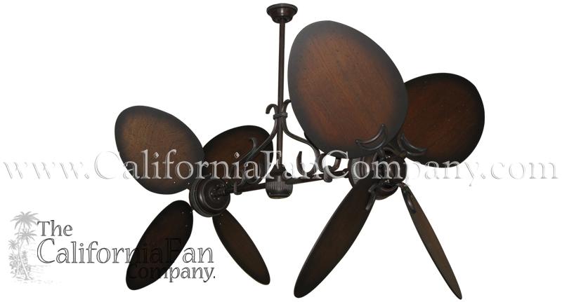 double blade ceiling fan photo - 6