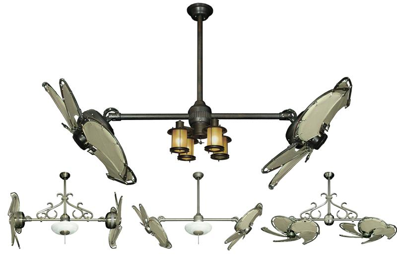 double blade ceiling fan photo - 8