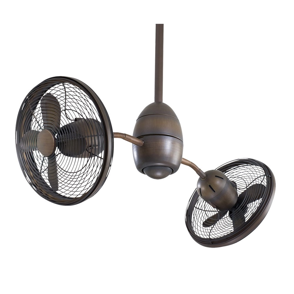 double oscillating ceiling fan photo - 5