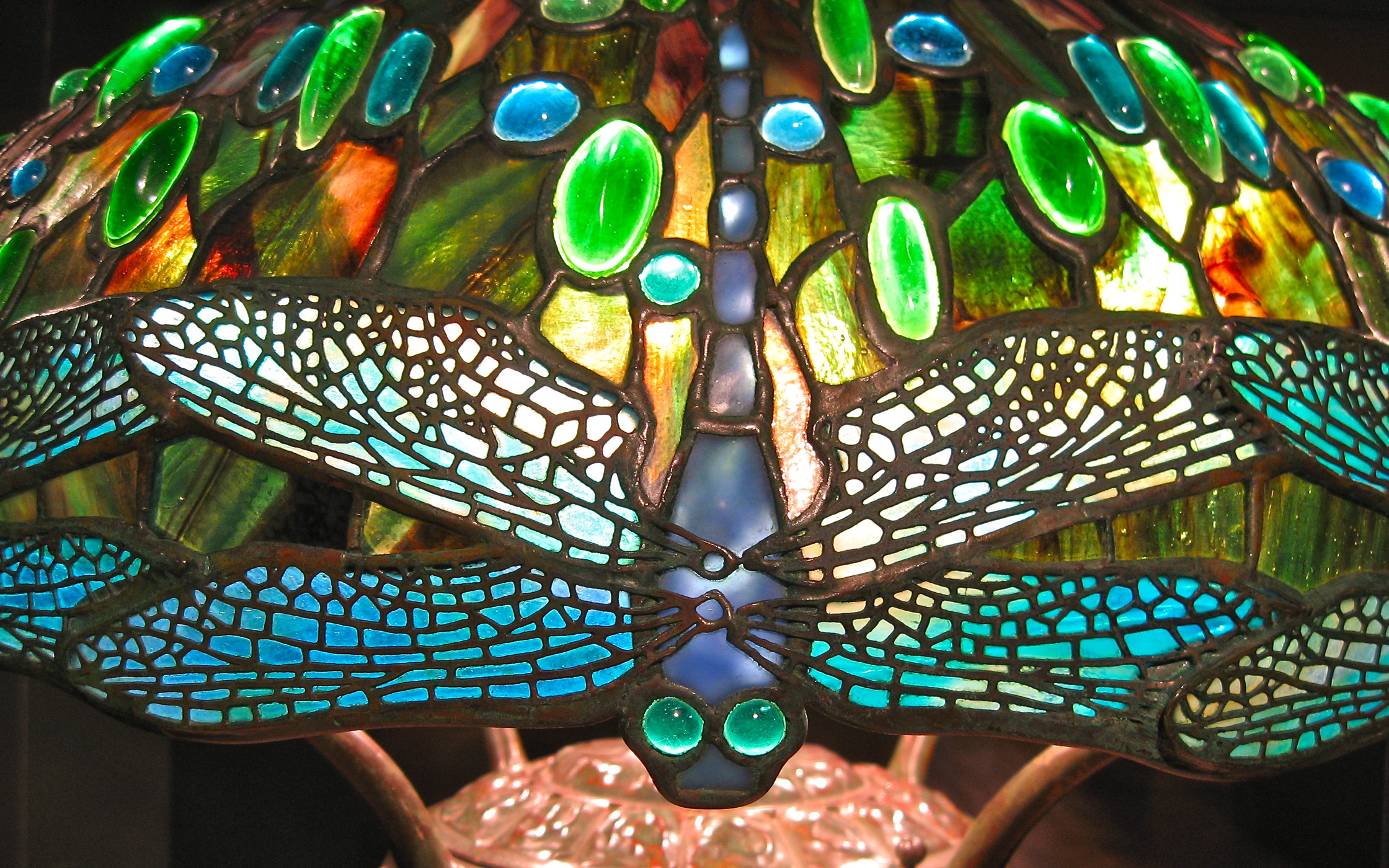 dragonfly tiffany lamp photo - 1