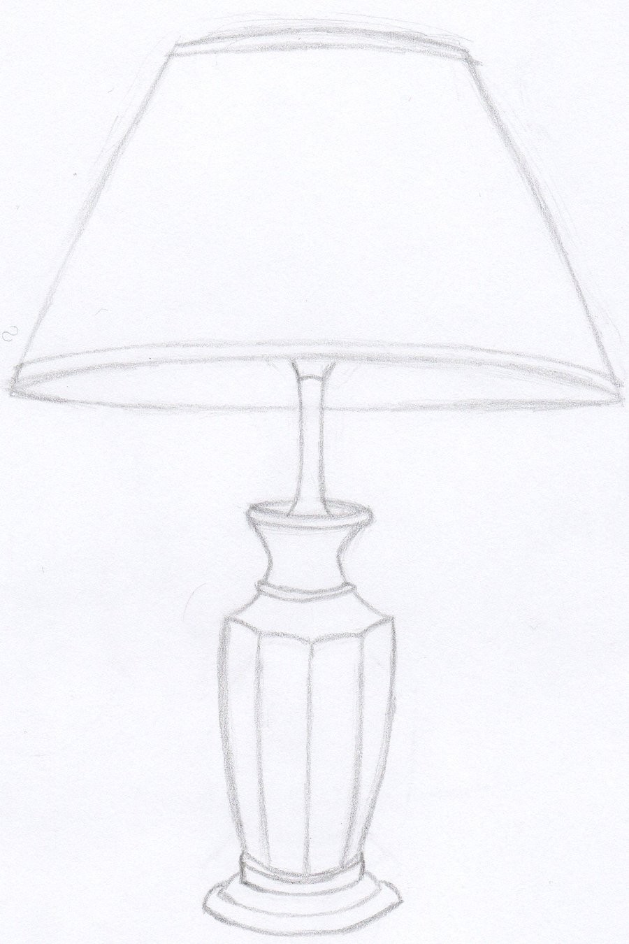 Decorate Your House Using The Drawing Of A Lamp