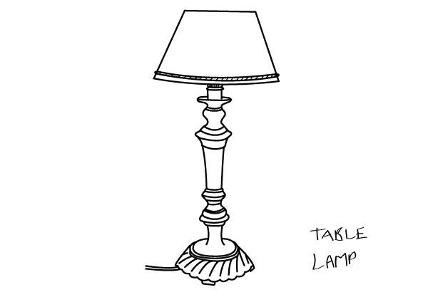 drawing table lamp photo - 1