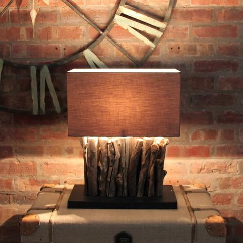 driftwood table lamps photo - 10