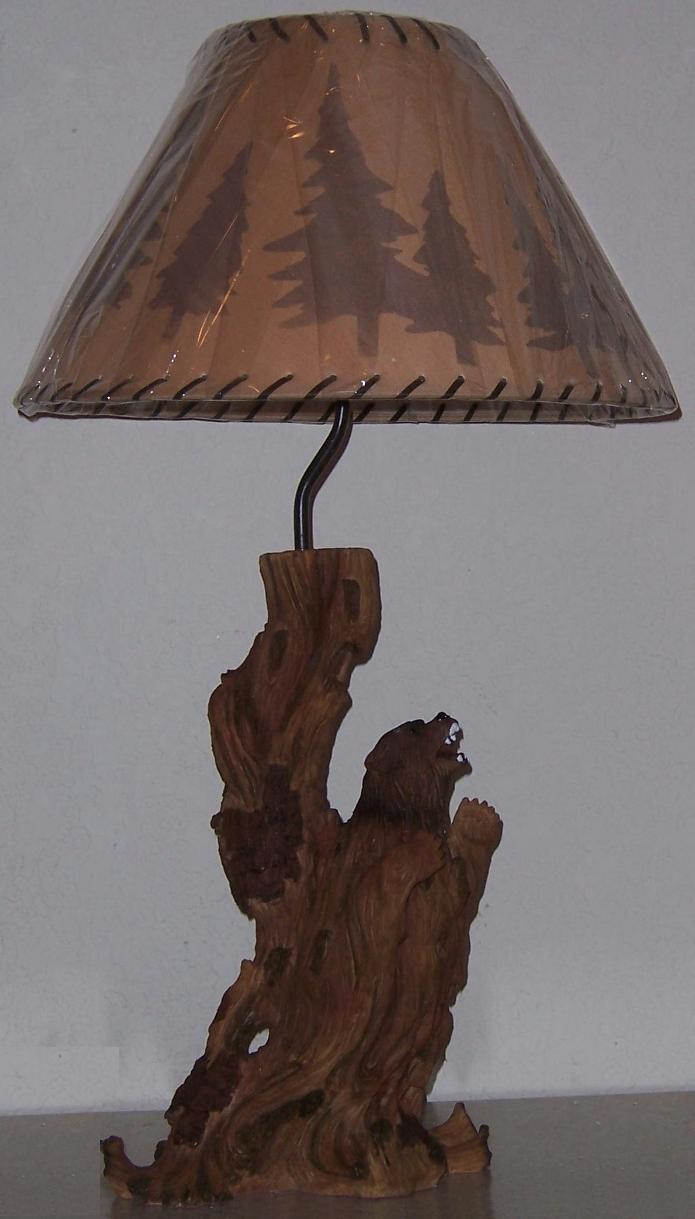 driftwood table lamps photo - 2