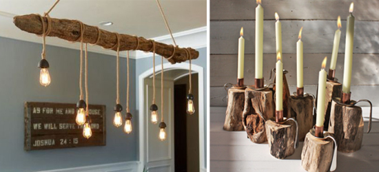 driftwood table lamps photo - 4