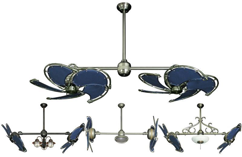 dual blade ceiling fan photo - 4
