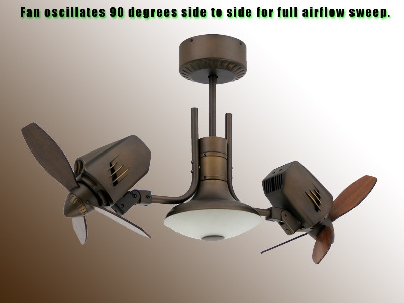 All photos entries: dual head ceiling fans - taken from open sources ...