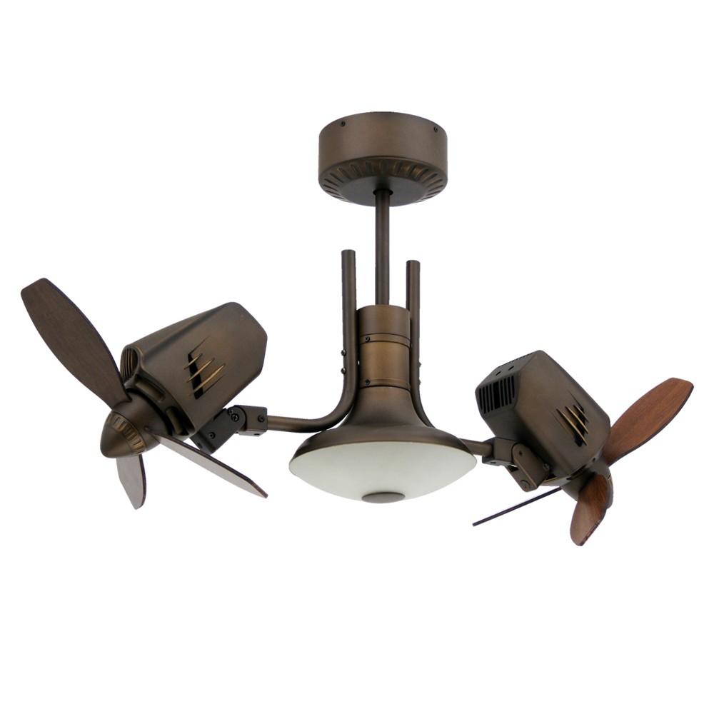 dual oscillating ceiling fan photo - 1