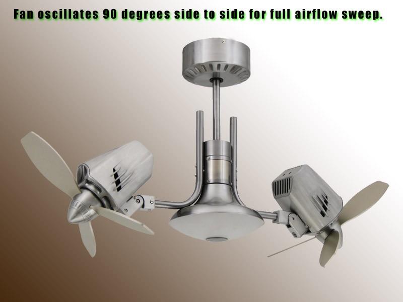dual oscillating ceiling fan photo - 10