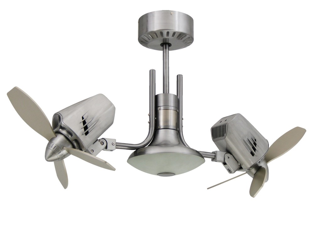 dual oscillating ceiling fan photo - 3