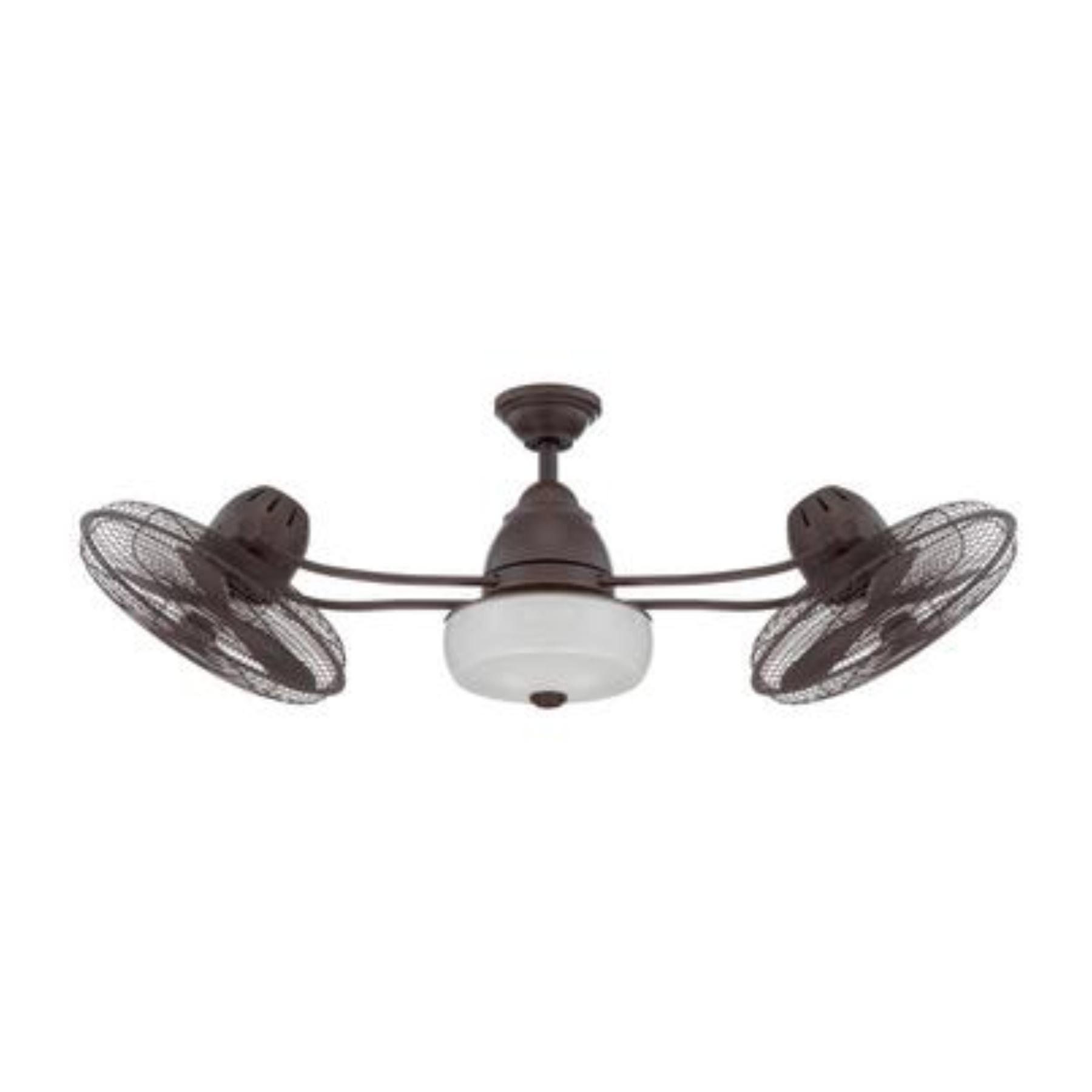 dual oscillating ceiling fan photo - 5