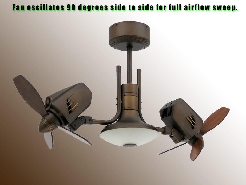 dual oscillating ceiling fan photo - 7