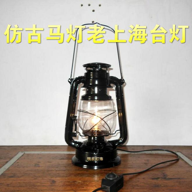 Electric lantern table lamp   Warisan Lighting