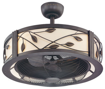 enclosed ceiling fan photo - 3