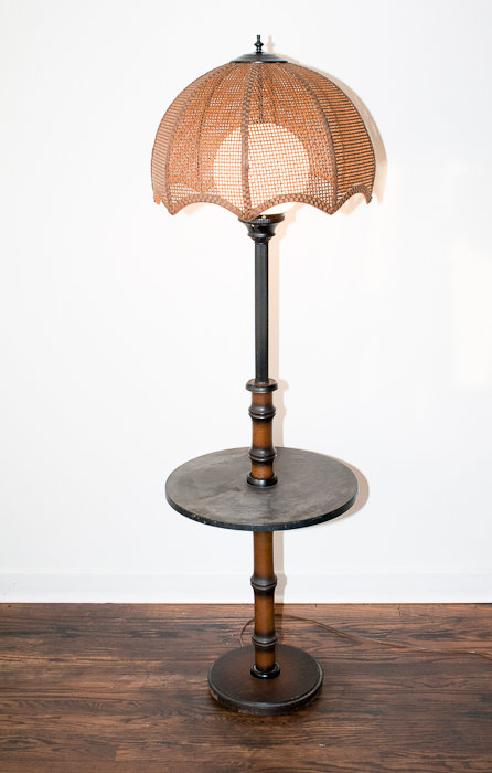 end table with attached lamp photo - 3