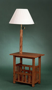 End Table With Lamp Attached Warisan Lighting
