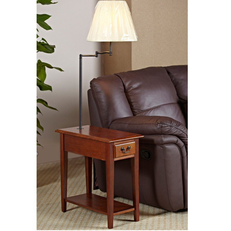 end tables with lamps attached photo - 2
