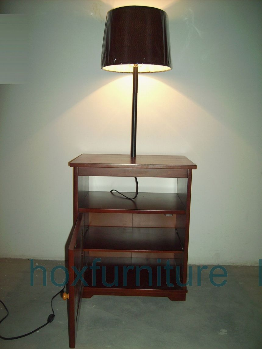 end tables with lamps attached photo - 4