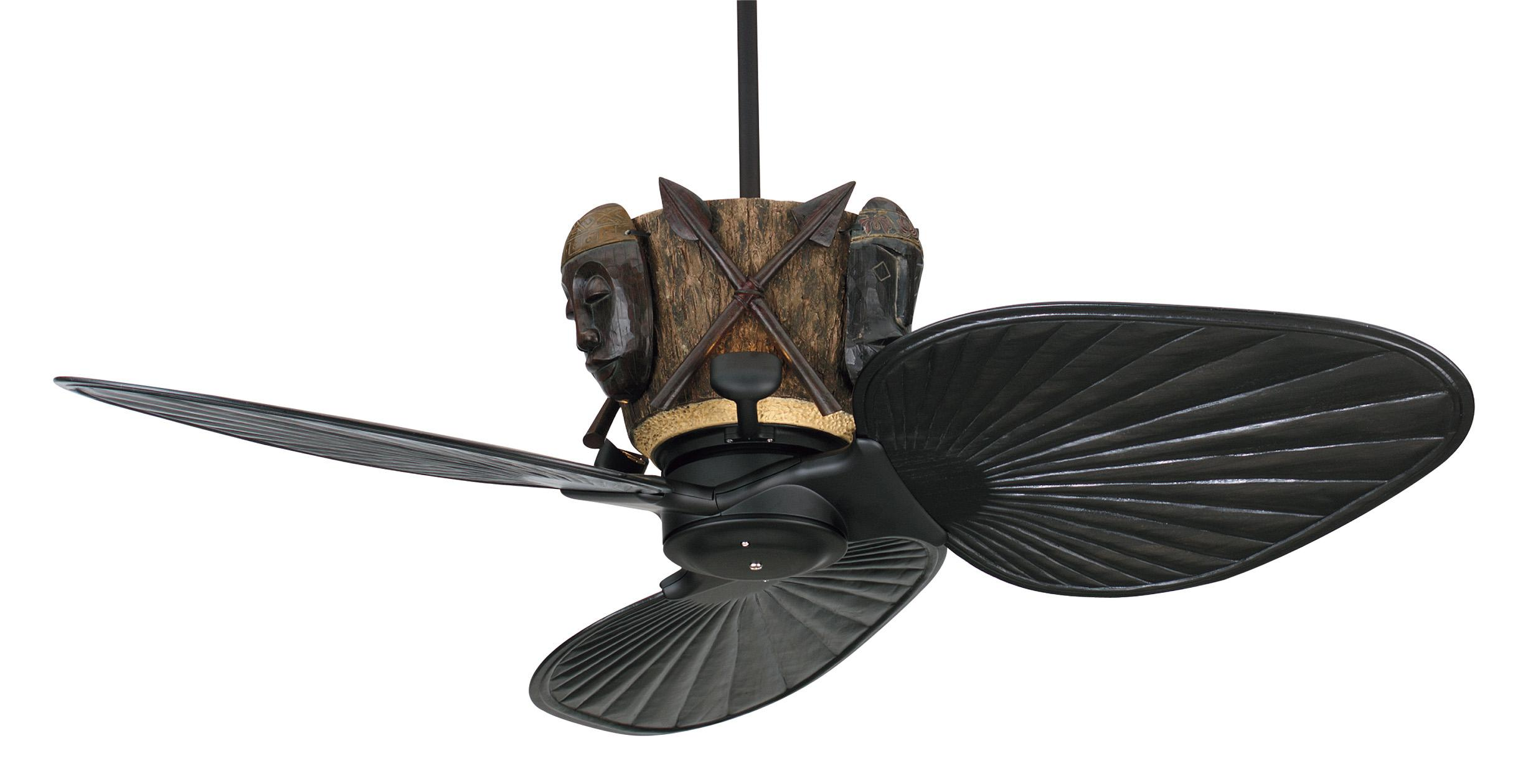 Exotic ceiling fans Bring a tropical feeling into your home