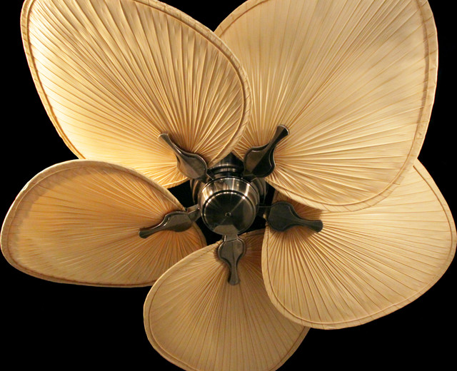 Exotic ceiling fans Bring a tropical feeling into your
