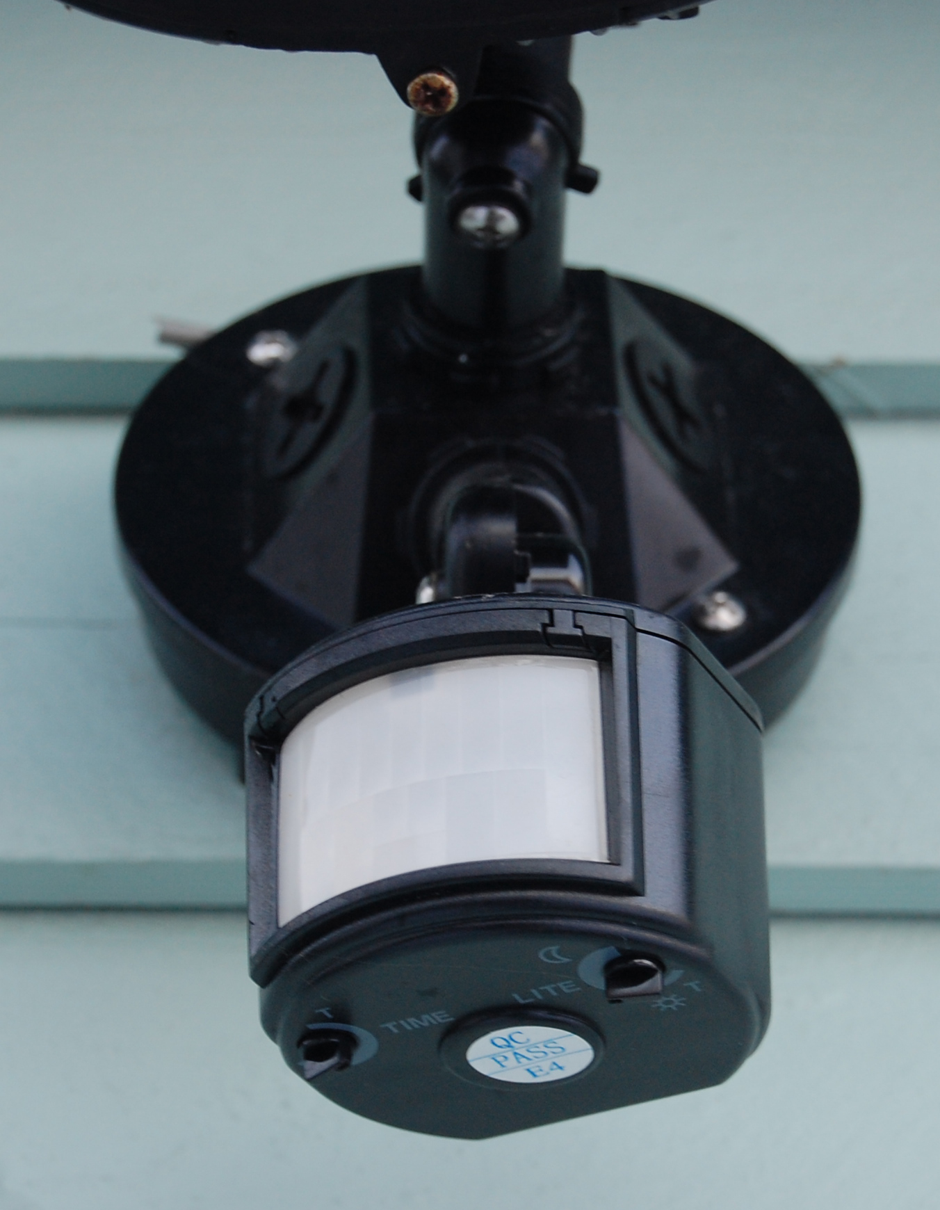 exterior wall lights with sensor photo - 7