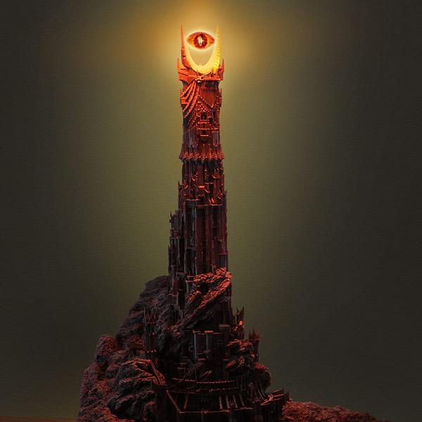 eye of sauron desk lamp photo - 3