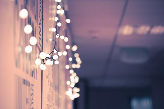fairy lights on wall photo - 10