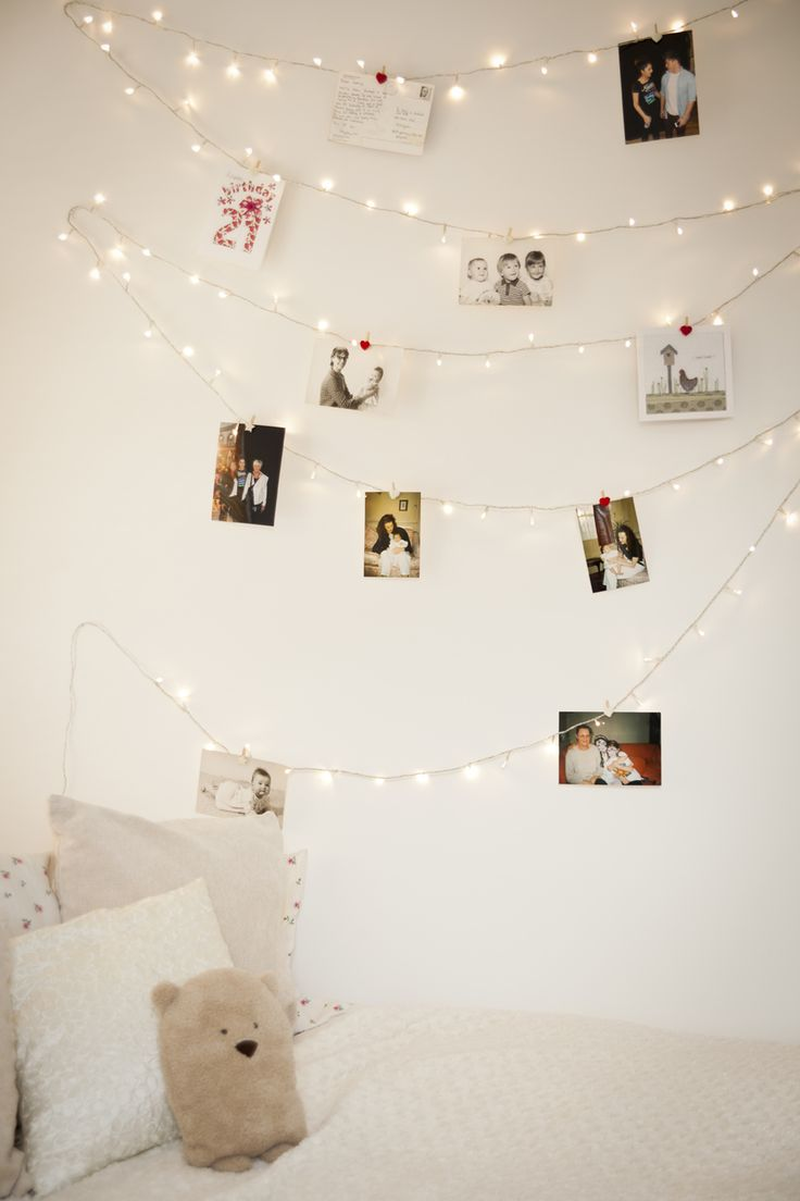 fairy lights on wall photo - 3