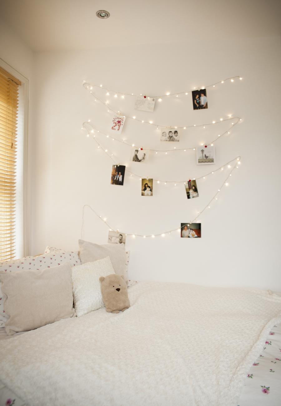 fairy lights on wall photo - 5