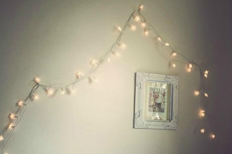 fairy lights on wall photo - 7