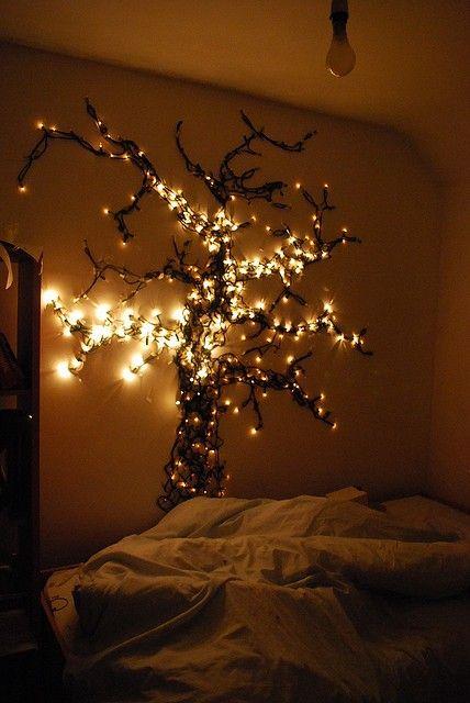 fairy lights on wall photo - 8