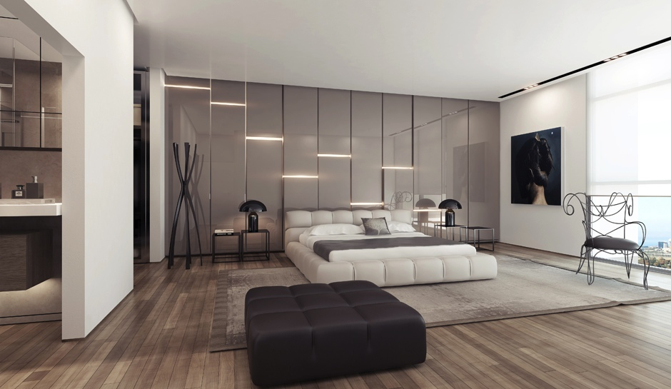 feature wall lights photo - 6