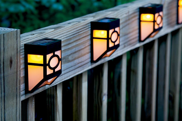 fence lights outdoor photo - 1