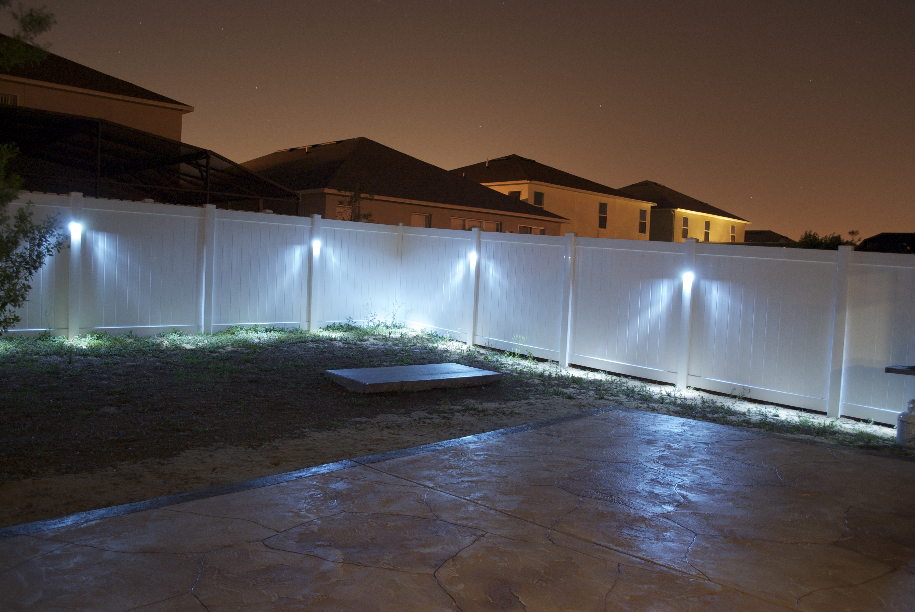 fence post lights outdoor photo - 6