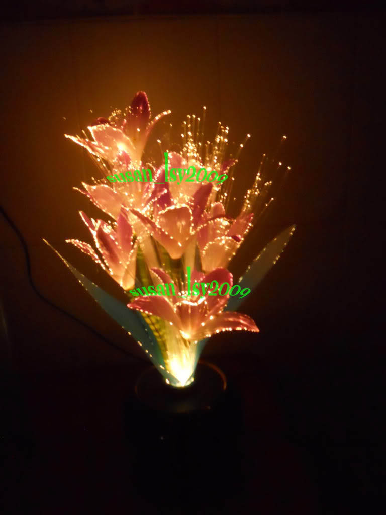 Fiber Optic Flower Lamp Warisan Lighting