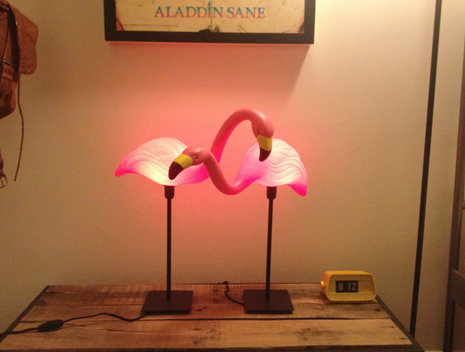 flamingo lamp photo - 2