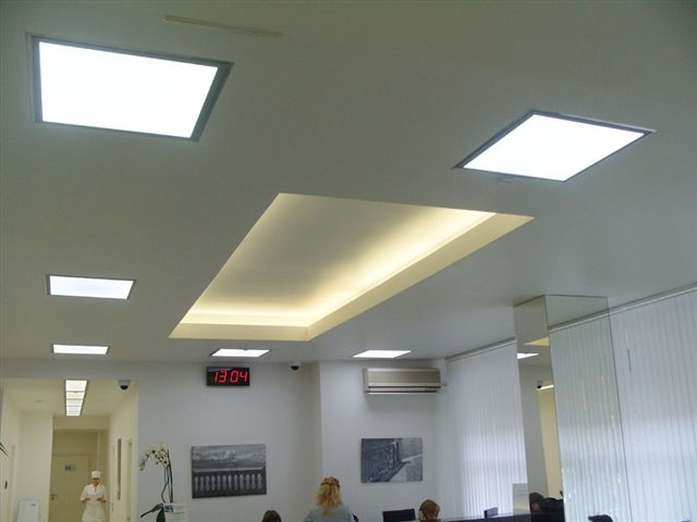flat panel led ceiling light photo - 1